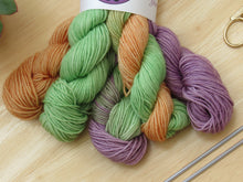 Load image into Gallery viewer, Bluefaced Leicester Mini skeins in Halloween colours