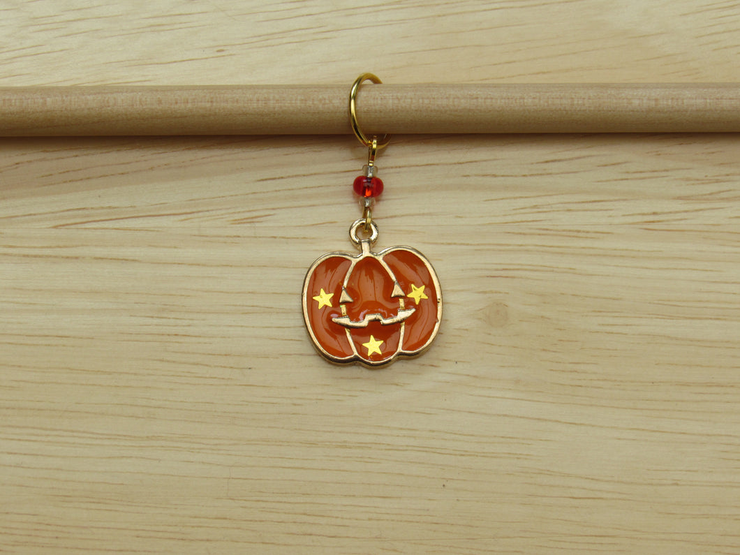Pumpkin Stitch Marker / Progress Keeper