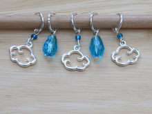 Load image into Gallery viewer, Clouds and Raindrops Stitch Marker / Progress Keeper set