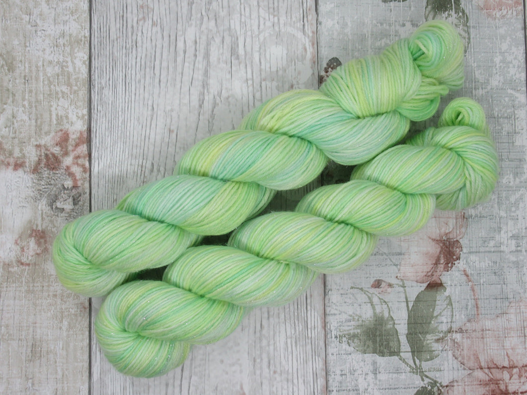 Silver Sparkle 4ply 50g in Spring colourway