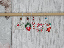 Load image into Gallery viewer, Christmas Stitch Marker / Progress Keeper set with beads