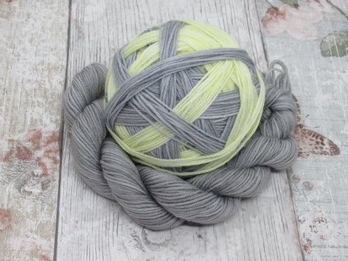 Self Striping Yarn in Grey and Yellow