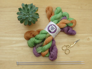 Bluefaced Leicester Mini skeins in Halloween colours