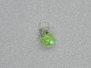 Green Star filled Bauble Stitch Marker / Progress Keeper