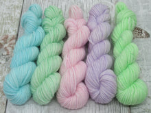 Load image into Gallery viewer, Silver Sparkle 10g mini skein set in pastel colours