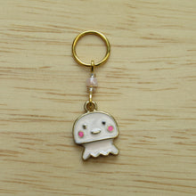 Load image into Gallery viewer, Pink Jellyfish Stitch Marker / Progress Keeper