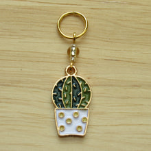 Load image into Gallery viewer, Cactus Stitch Marker / Progress Keeper