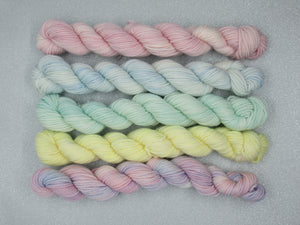 Merino and Nylon 20g Mini skeins in Winter colours