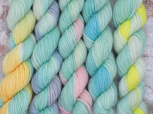 Merino Nylon mini skein set in variegated colours