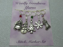 Load image into Gallery viewer, Christmas Stitch Marker / Progress Keeper set