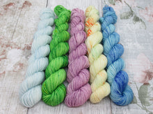 Load image into Gallery viewer, Merino Nylon mini skein set in speckled colours