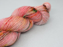 Load image into Gallery viewer, Silver Sparkle 4ply 100g in OOAK Festive colourway