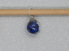 Load image into Gallery viewer, Blue Star filled Bauble Stitch Marker / Progress Keeper