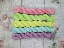 Load image into Gallery viewer, Merino Nylon mini skein set in pastel colours