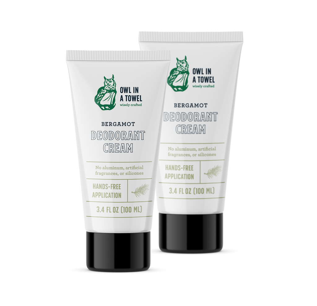 Bergamot Deodorant Cream (3.4 oz) 2-Pack