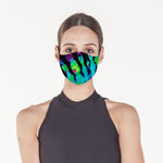 Neon Blue Jungle - Face Mask