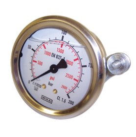 "Wika Pressure Gauge 63mm - 1/4"" BSP Back Entry 1.6% FSD Accuracy - Parker Hydraulics & Pneumatics"