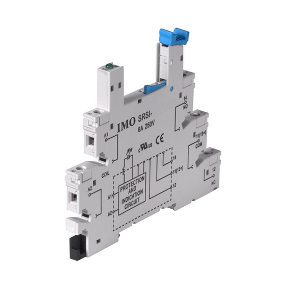 IMO 1 Pole SRSI Series Relay Base 6A (see ETS series for suitable Relay) - Parker Hydraulics & Pneumatics
