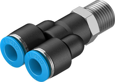 Push-In Taper Male Stud Y Piece Straight - Parker Hydraulics & Pneumatics
