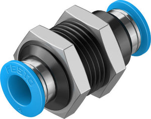 Festo Push-In Bulkhead Connector - Parker Hydraulics & Pneumatics