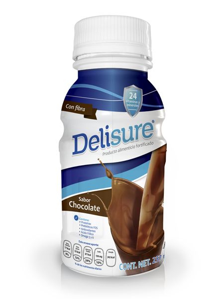 Delisure Chocolate | Caja 12 pzas | 237 ml