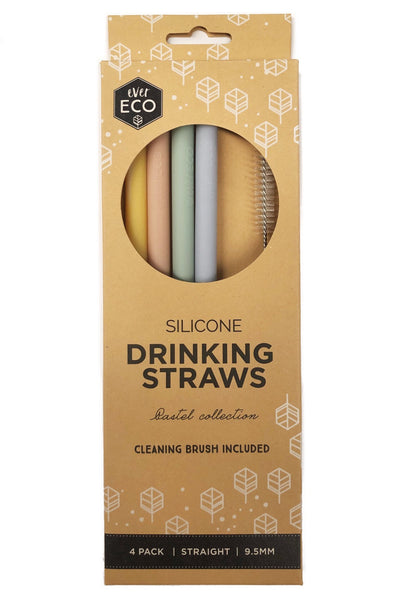 Ever Eco Silicone Straws - Pastel Collection