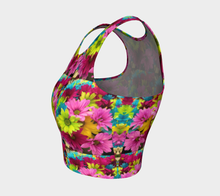 Load image into Gallery viewer, Crop Top Daisies - HIG Activewear - Athletic Crop Top