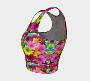 Crop Top Daisies - HIG Activewear - Athletic Crop Top
