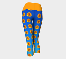 Load image into Gallery viewer, Yoga Capris Sunflower - HIG Activewear - Yoga Capris