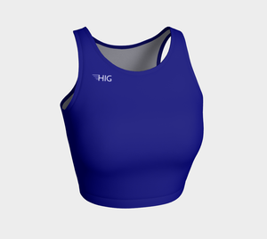 Crop Top Bleu - HIG Activewear - Athletic Crop Top