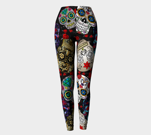 Halloween skulls leggings - HIG Activewear - Leggings