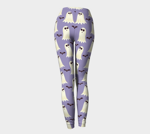 Leggings Halloween ghost & bat pattern - HIG Activewear - Leggings