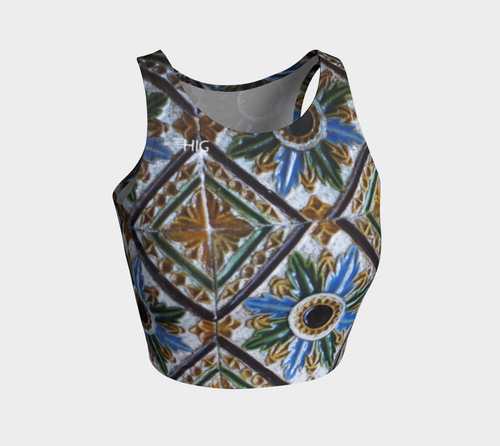 Crop Top Mosaique - HIG Activewear - Athletic Crop Top