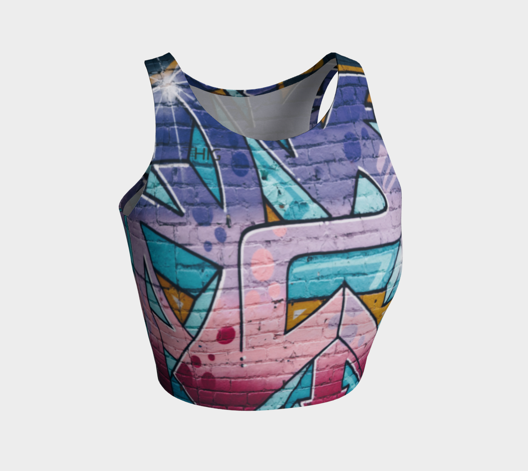 Crop Top Spray - HIG Activewear - Athletic Crop Top