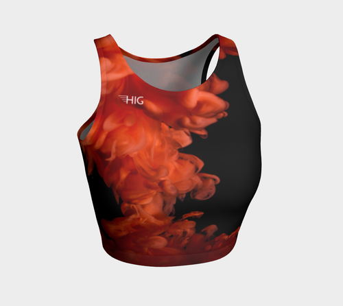Crop Top Lava - HIG Activewear - Athletic Crop Top