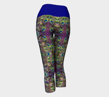 Load image into Gallery viewer, Yoga Capris Peacock - HIG Activewear - Yoga Capris