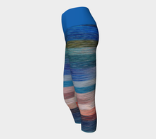 Load image into Gallery viewer, Yoga Capris  Stripes - HIG Activewear - Yoga Capris