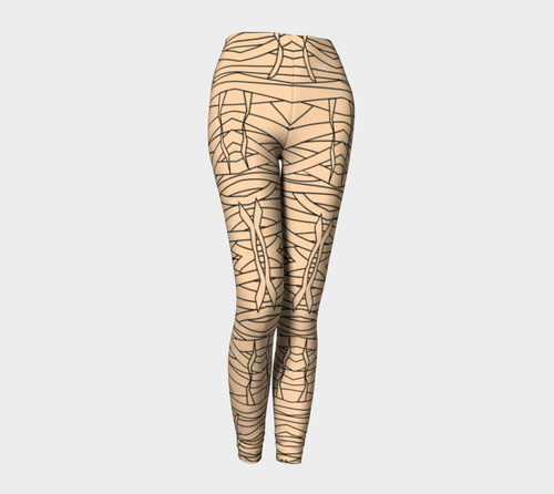 Halloween Mummy Leggings - HIG Activewear - Leggings