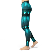 Load image into Gallery viewer, Leggings Teal - HIG Activewear - Leggings