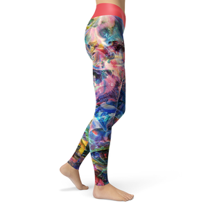 Yoga Leggings Aquarelle - HIG Activewear - Yoga Leggings