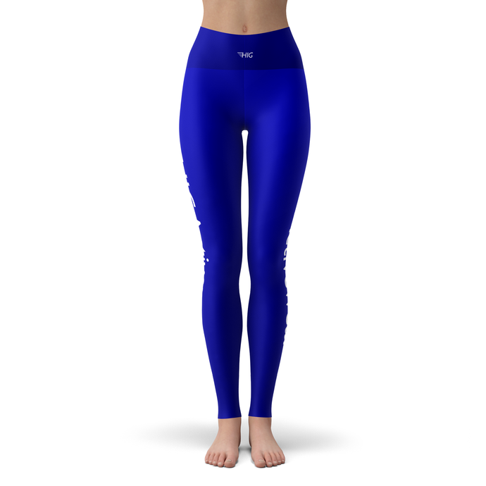 Yoga Leggings Bleu - HIG Activewear - Yoga Leggings