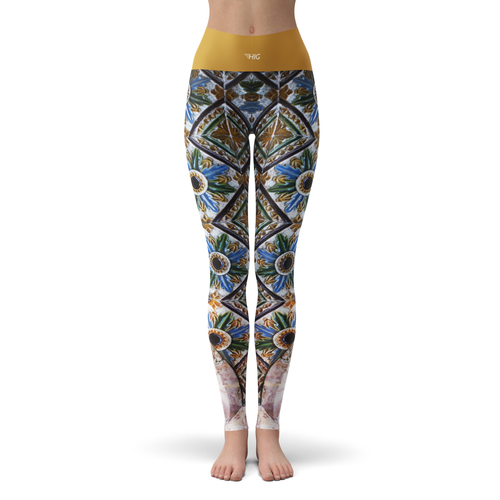 Yoga Leggings Mosaique - HIG Activewear - Yoga Leggings