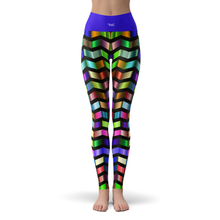 Load image into Gallery viewer, Yoga Leggings Chevron - HIG Activewear - Yoga Leggings