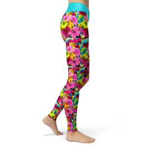 Yoga Leggings Daisies - HIG Activewear - Yoga Leggings