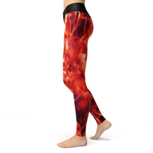 Load image into Gallery viewer, Yoga Leggings Fire - HIG Activewear - Yoga Leggings