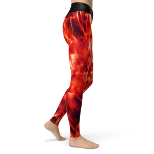 Yoga Leggings Fire - HIG Activewear - Yoga Leggings