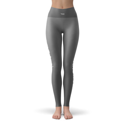 Yoga Leggings Grise - HIG Activewear - Yoga Leggings