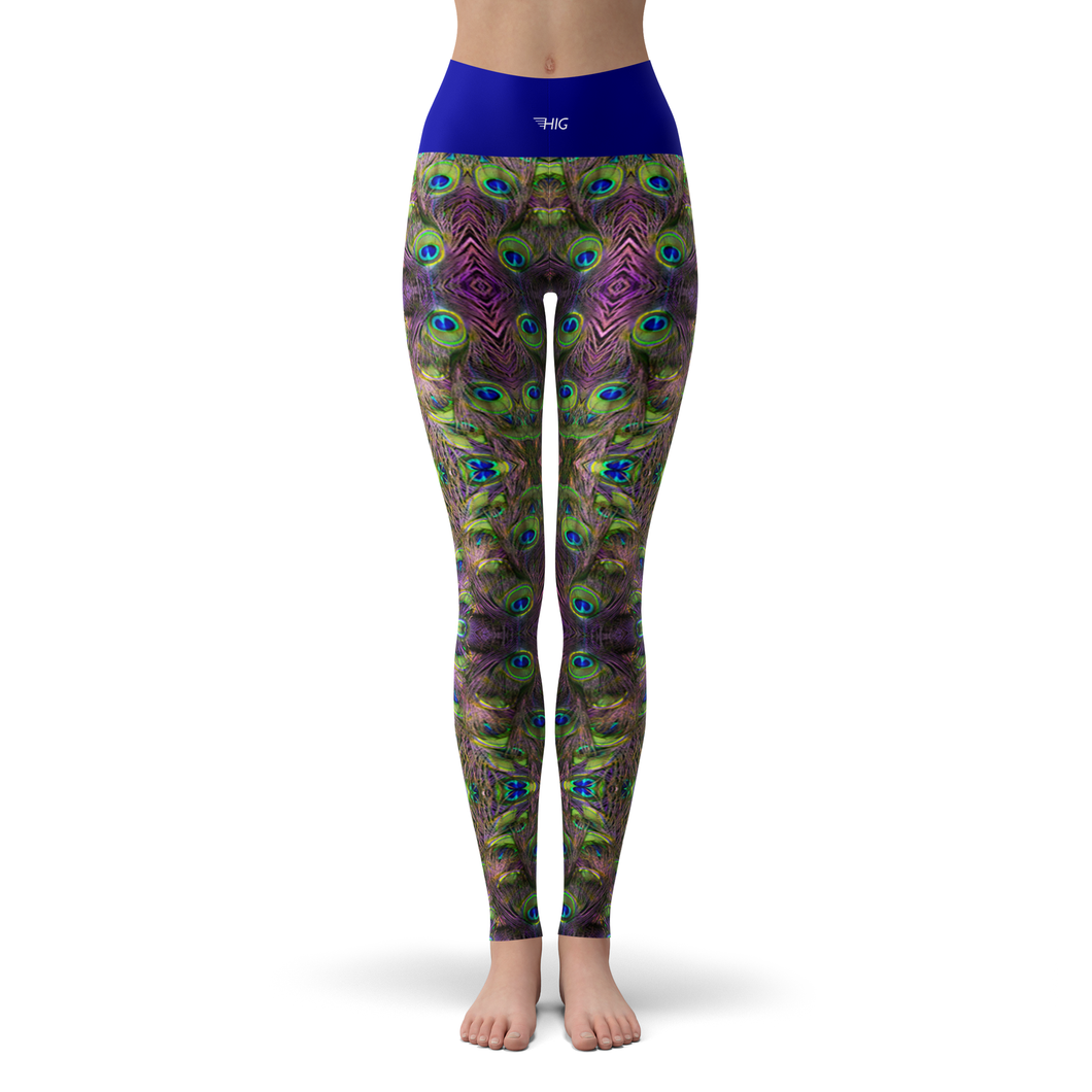 Yoga Leggings Peacock - HIG Activewear - Yoga Leggings