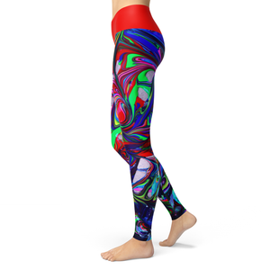 Yoga Leggings Swirl - HIG Activewear - Yoga Leggings