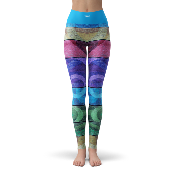 Yoga Leggings Waves - HIG Activewear - Yoga Leggings